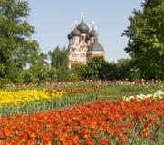 Moskou, orthodoxe kerk Stock Foto's