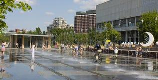 Moskou, park Museon stock afbeeldingen