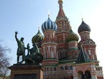 moskou Rood vierkant De lentedag, heldere kleuren royalty-vrije stock afbeelding