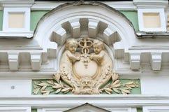 Moskou, Rusland, 19,2015 April, Russische scène: Niemand, Podsosensky-steeg, 21 Het huis van de patroons Morozovs van Moskou Elem Royalty-vrije Stock Afbeeldingen