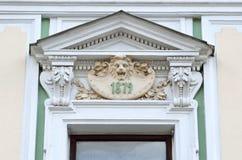 Moskou, Rusland, 19,2015 April, Russische scène: Niemand, Podsosensky-steeg, 21 Het huis van de patroons Morozovs van Moskou Elem Stock Fotografie