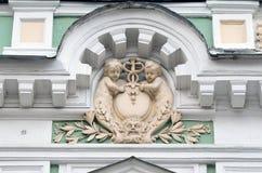 Moskou, Rusland, 19,2015 April, Russische scène: Niemand, Podsosensky-steeg, 21 Het huis van de patroons Morozovs van Moskou Elem Royalty-vrije Stock Foto