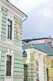 Moskou, Rusland, 19,2015 April, Russische scène: Niemand, Podsosensky-steeg, 21 Het huis van de patroons Morozovs van Moskou Elem Stock Foto's