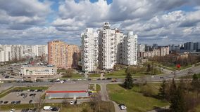 Moskou, Rusland - April 29 2018 Zelenograd administratief district stock video