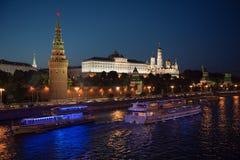 MOSKOU, Rusland - Augustus 06 2016: Soort aan Moskou het Kremlin royalty-vrije stock foto