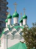 Moskou, Rusland De kerk Simeon op Cook bouwde 1676 in Stock Afbeelding