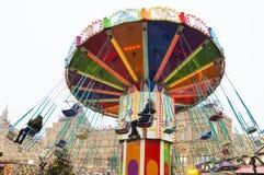 MOSKOU, RUSLAND - December, 2017: Carrousel in het centrum van Moskou, in het kader van de Festival` Reis wordt gevestigd aan CH  Royalty-vrije Stock Afbeeldingen