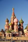 Moskou, Rusland - Februari 18 2016 St de Kathedraal van het basilicum op Rood vierkant stock foto's