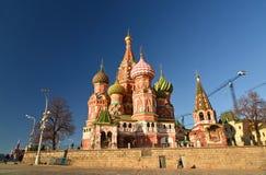 Moskou, Rusland - Februari 18 2016 St de Kathedraal van het basilicum op Rood vierkant royalty-vrije stock foto