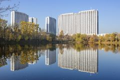 Moskou, Rusland, Izmailovo-complex Hotel royalty-vrije stock afbeelding