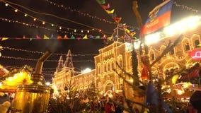 MOSKOU, RUSLAND - JANUARI, 2, 2017 Traditionele Nieuwjaar en Kerstmismarkt op het Rode Vierkant Het stomen van samovar Royalty-vrije Stock Foto