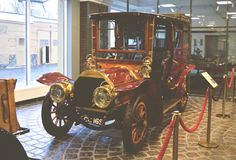 MOSKOU, RUSLAND - JANUARI 6, 2018: Vadim Zadorozhny Technology Museum, reeks c-2 model 22 cv van autoberliet royalty-vrije stock foto's