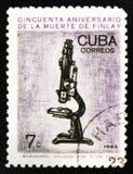 MOSKOU, RUSLAND - JULI 15, 2017: Een zegel in Cuba wordt gedrukt toont mi die Stock Afbeelding