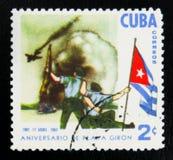 MOSKOU, RUSLAND - JULI 15, 2017: Een zegel in Cuba wordt gedrukt toont Th dat Royalty-vrije Stock Fotografie