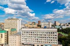 MOSKOU, RUSLAND - Juli 24 2017 Hoogste mening van Meshchansky-district Royalty-vrije Stock Afbeelding