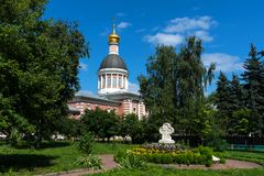 Moskou, Rusland - Juli 29, 2018: Kerk van de Geboorte van Christus in Rogozhskaya Sloboda in Moskou Stock Afbeeldingen