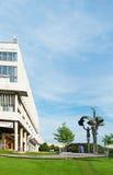 MOSKOU, RUSLAND - JUNI 14, 2016: een Mening van het Centrale Huis van de Kunstenaar en het beeldhouwwerk Stock Foto