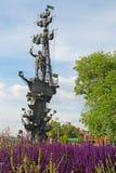 MOSKOU, RUSLAND - JUNI 14, 2016: een mening van het monument aan Peter groot Stock Afbeelding