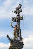 MOSKOU, RUSLAND - JUNI 14, 2016: een mening van het monument aan Peter groot Royalty-vrije Stock Fotografie