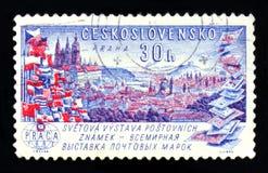 MOSKOU, RUSLAND - JUNI 20, 2017: Een zegel in Czechoslovaki wordt gedrukt die Royalty-vrije Stock Fotografie