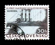 MOSKOU, RUSLAND - JUNI 20, 2017: Een zegel in Czechoslovaki wordt gedrukt die Stock Foto