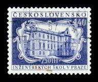MOSKOU, RUSLAND - JUNI 20, 2017: Een zegel in Czechoslovaki wordt gedrukt die Stock Afbeeldingen