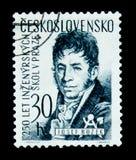 MOSKOU, RUSLAND - JUNI 20, 2017: Een zegel in Czechoslovaki wordt gedrukt die Royalty-vrije Stock Afbeeldingen