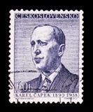 MOSKOU, RUSLAND - JUNI 20, 2017: Een zegel in Czechoslovaki wordt gedrukt die royalty-vrije stock afbeelding