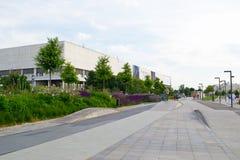 MOSKOU, RUSLAND - JUNI 14, 2016: Gebied voor het berijden van fietsen, rolschaatsen en skateboards Royalty-vrije Stock Foto