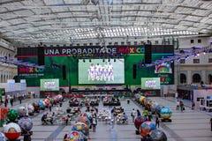 Moskou, Rusland, 20 Juni, 2018 Wereldbeker 2018, de streek van de voetbalventilator Stock Foto's