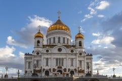 Moskou, Rusland, Kathedraal van Christus de Verlosser de grootste orthodoxe kerk Stock Foto's
