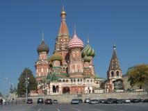 Moskou, Rusland - Kathedraal van de Vergine Santa op de Gracht (de Kathedraal van het Basilicum van Heilige) Stock Fotografie