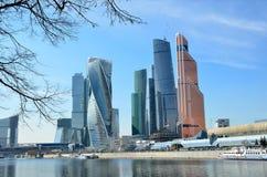 Moskou, Rusland, 28 Maart, 2016 Russische scène: Internationale Commerciële Centrum Moskou-Stad Royalty-vrije Stock Fotografie