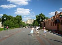moskou Rusland Manezhnastraat Stock Foto