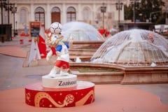 Moskou, Rusland 31 mei, 2018 de officiële mascotte van 2018 FIF Royalty-vrije Stock Foto