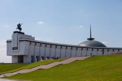 Moskou/Rusland - Mei 17, 2012: een groot gebouw op de vereringsberg stock foto