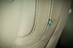 MOSKOU, RUSLAND - MEI 3, HET DWARSland VAN VOLVO VAN 2017 V90, BINNENLANDSE MENING Test van het nieuwe Dwarsland van Volvo V90 De Stock Fotografie