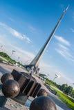 MOSKOU, RUSLAND - MEI 20, 2009: Monument aan de Veroveraars van Ruimte Stock Afbeeldingen