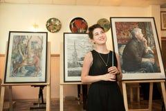 MOSKOU, RUSLAND, 19 MEI, 2014: Niet geïdentificeerd tienermeisje graduat Stock Foto's