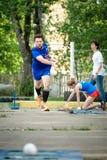 MOSKOU, RUSLAND - MEI 12, 2018: Russisch toernooiendag Runnen van Bocce-volo Royalty-vrije Stock Foto's