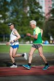 MOSKOU, RUSLAND - MEI 13, 2017: Russische athlets loopt op tou Royalty-vrije Stock Foto