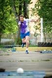 MOSKOU, RUSLAND - MEI 12, 2018: Russische toernooiendag die lopen van Stock Foto's