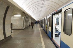 MOSKOU, RUSLAND 11 05 2014 Metro Post Royalty-vrije Stock Fotografie
