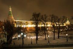 Moskou, Rusland Mooi Weergeven van Manezh-Vierkant op Moskou Krem royalty-vrije stock foto's