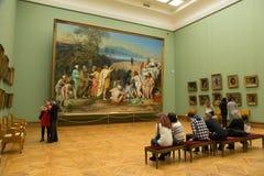 Moskou, Rusland - November 5, 2015: De Staat Tretyakov Art Gallery in Moskou stock afbeelding