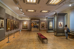 Moskou, Rusland - November 5, 2015: De Staat Tretyakov Art Gallery in Moskou stock foto
