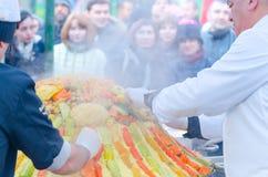 Moskou, Rusland - November 11, 2015: Festival Marokko in Moskou Royalty-vrije Stock Foto's