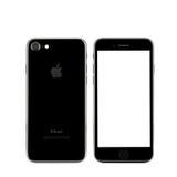 MOSKOU, RUSLAND - OKTOBER 22, 2016: Nieuwe zwarte iPhone 7 is slim Stock Foto
