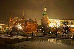 Moskou, Rusland Op het Historisch Museum en Moskou Achtergrond van de Staat royalty-vrije stock fotografie