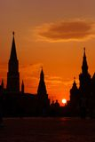 Moskou, Rusland, ROOD VIERKANT Royalty-vrije Stock Foto's